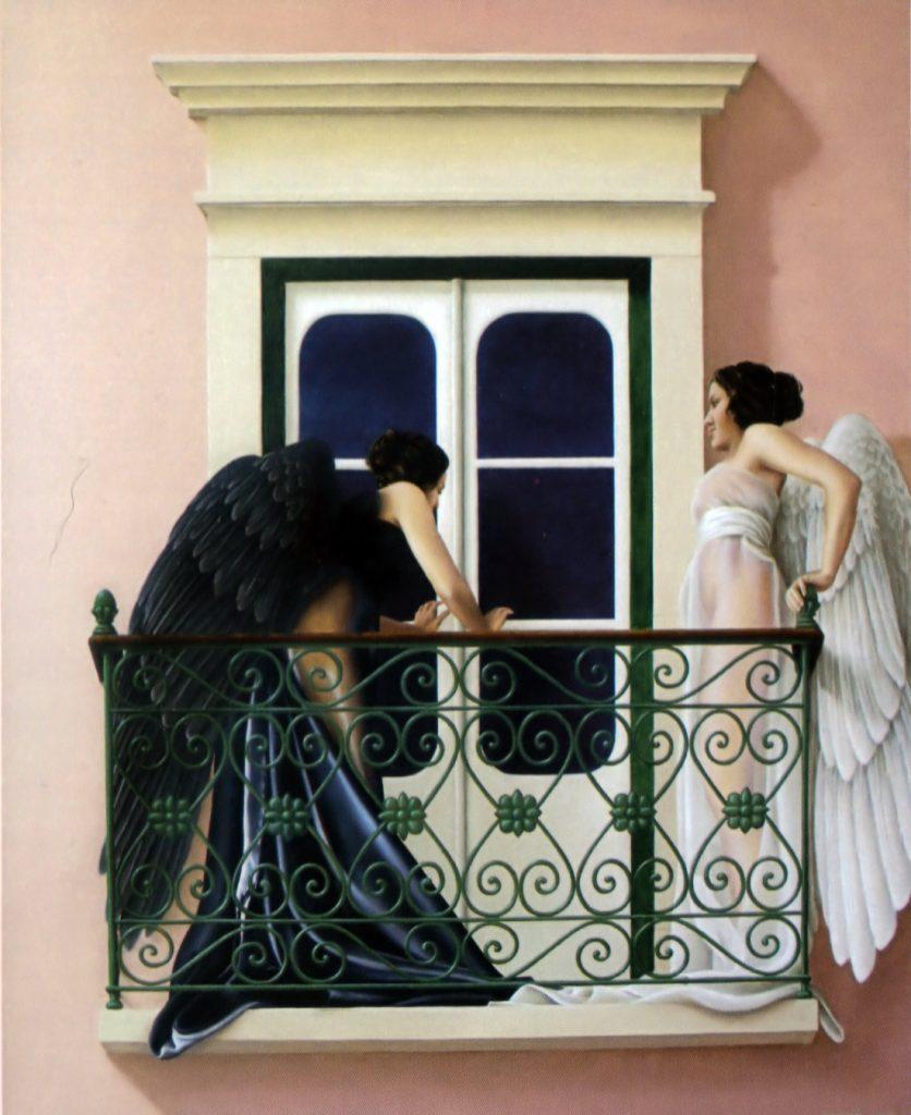 ANJO NEGRO E ANJO BRANCO (óleo sobre tela, 121x99 cm, 2006) DISPONÍVEL