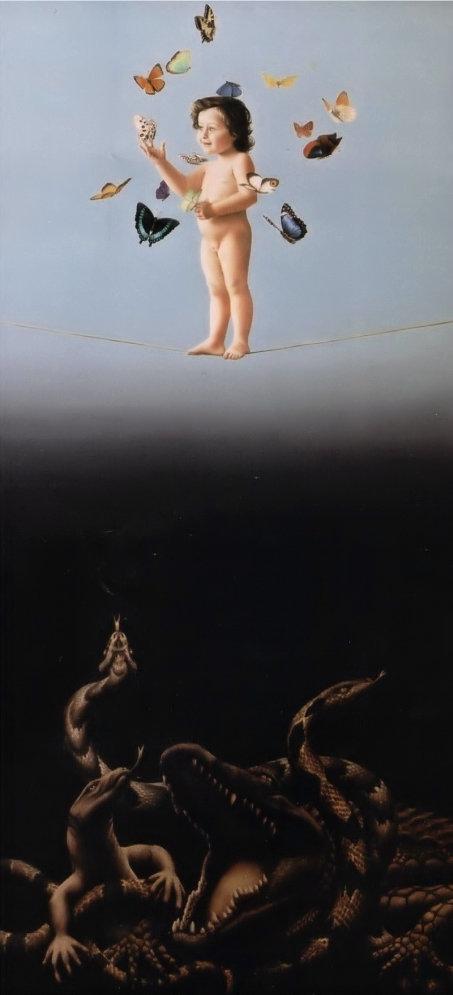 METAMORFOSE (óleo sobre tela, 160x72 cm, 2001)