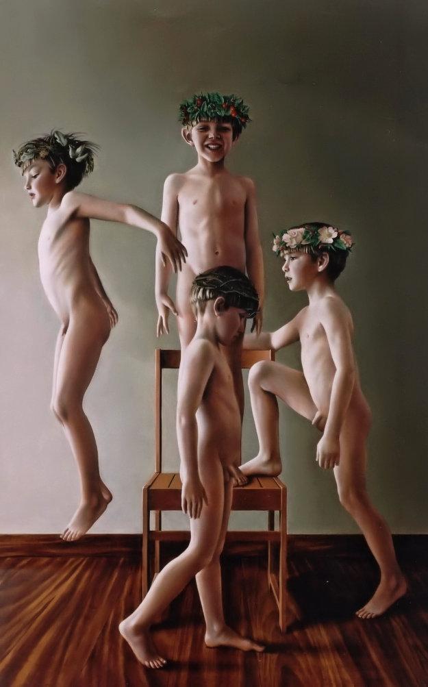 A RODA DA FORTUNA (óleo sobre tela, 147x91 cm, 2001)