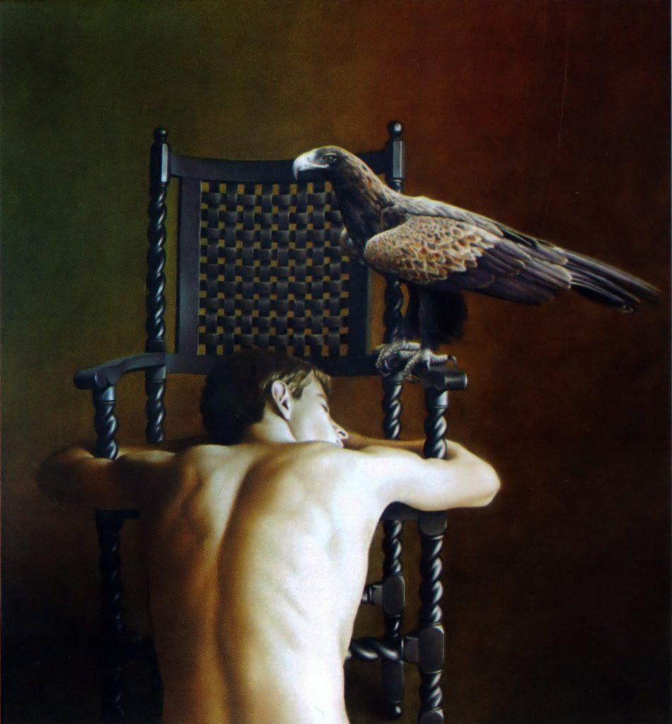 VIGÍLIA E SONO (óleo sobre tela, 102x95 cm, 2005)