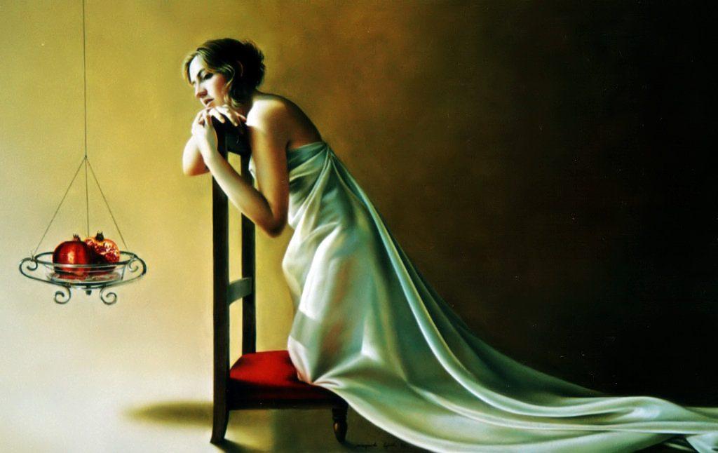 A NOIVA (óleo sobre tela, 77x126 cm, 2005)